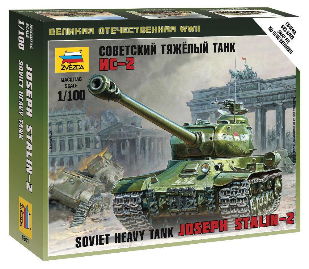 Сборная модель Zvezda Советский тяжёлый танк Ис-2 6201