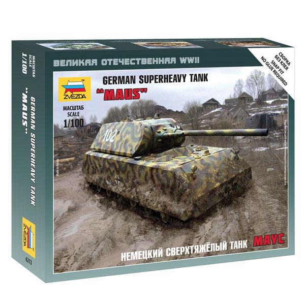 Сборная модель Zvezda Немецкий сверхтяжёлый танк Маус 6213