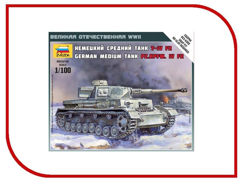 Сборная модель Zvezda Немецкий танк T-IV F2 6251 звезда сборная модель немецкий средний танк pz iv ausf d