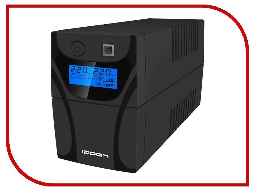 Источник бесперебойного питания Ippon Back Power Pro LCD 600 Black источник бесперебойного питания ippon back power lcd pro 800 708220