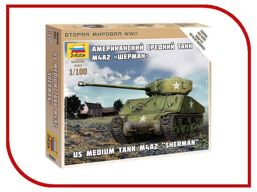 Сборная модель Zvezda Американский средний танк Шерман М4А2 6263 часы бен шерман