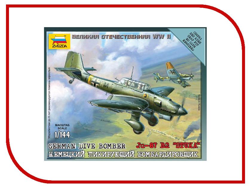 Сборная модель Zvezda Немецкий бомбардировщик Ju-87B2 6123