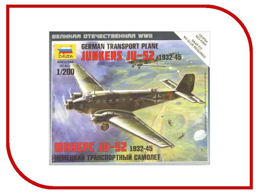 Сборная модель Zvezda Немецкий самолет Юнкерс Ю-52 6139