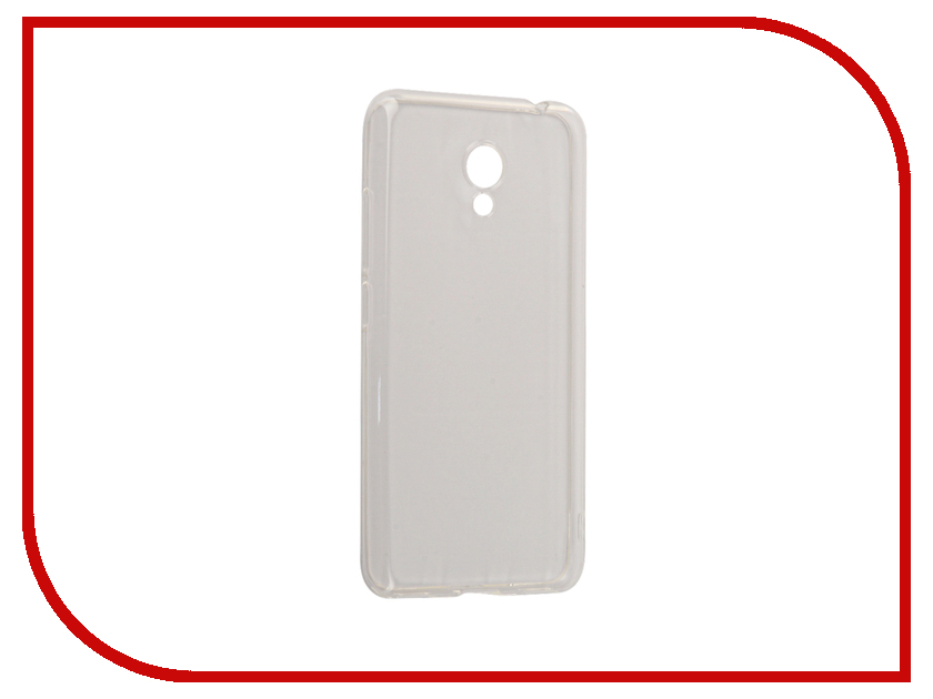 Аксессуар Чехол Meizu M5C/M5A BoraSCO Silicone Transparent аксессуар защитное стекло meizu u10 borasco 0 2mm