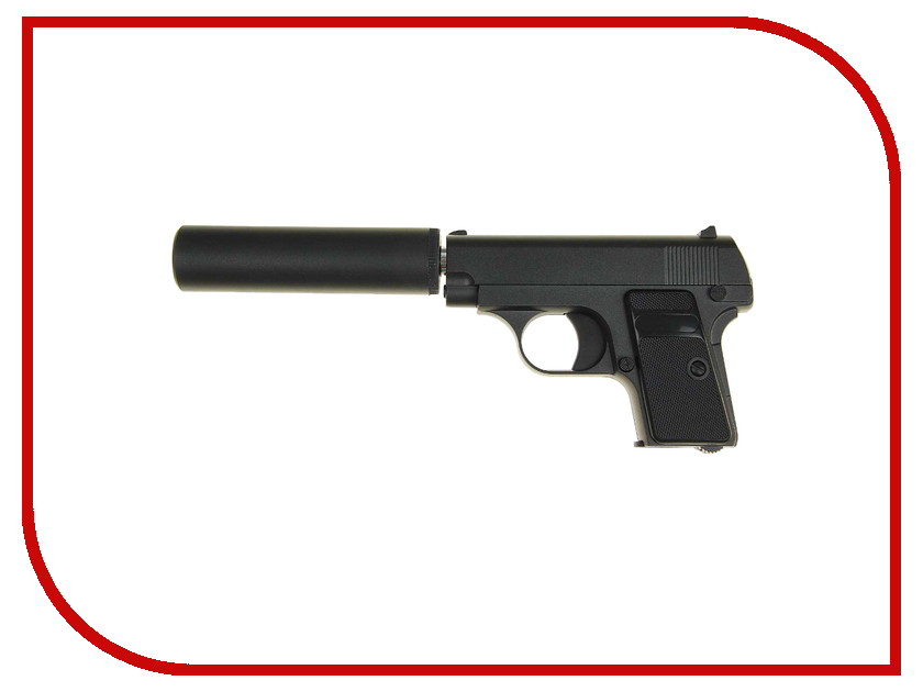 Страйкбольный пистолет Galaxy G.1A Colt 25 c глушителем