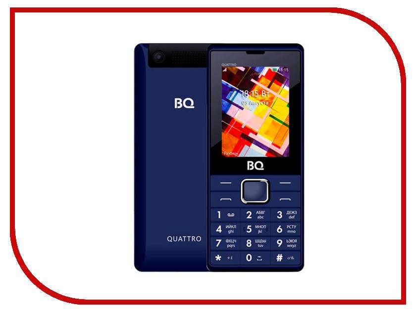 Сотовый телефон BQ BQ-2412 Quattro Dark Blue сотовый телефон bq 5009l trend dark blue