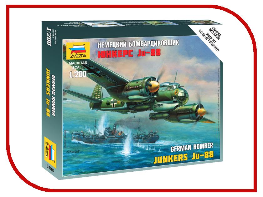 Сборная модель Zvezda Немецкий бомбардировщик Ju-88 A4 6186 ju ju be сумка для мамы hobobe black petals