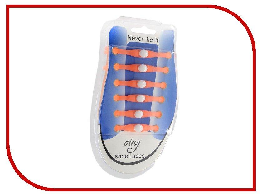 Гаджет Шнурки для обуви Activ Силиконовые Orange 59809
