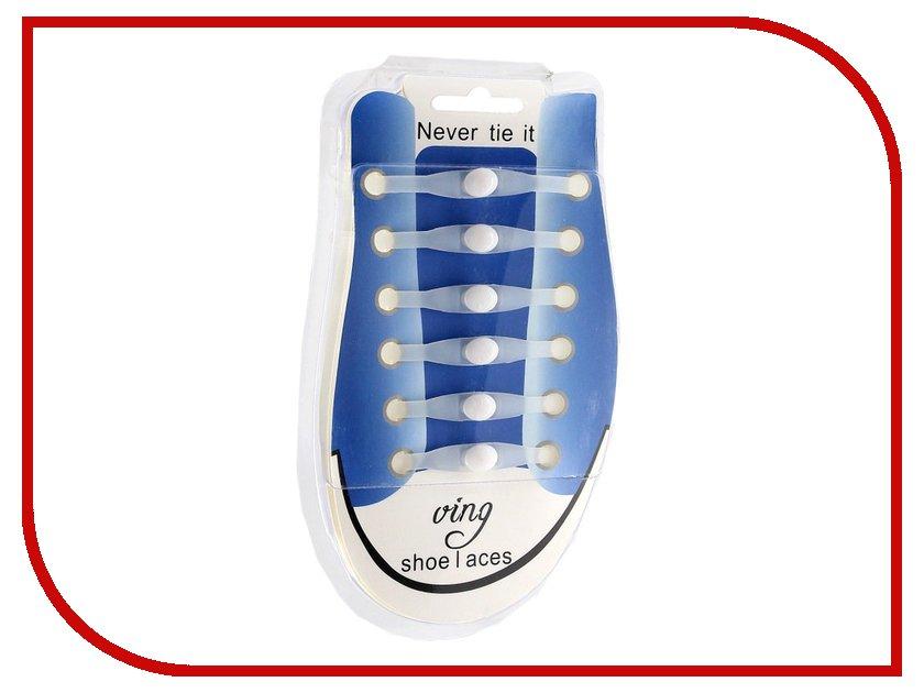 Гаджет Шнурки для обуви Activ Силиконовые White 59811