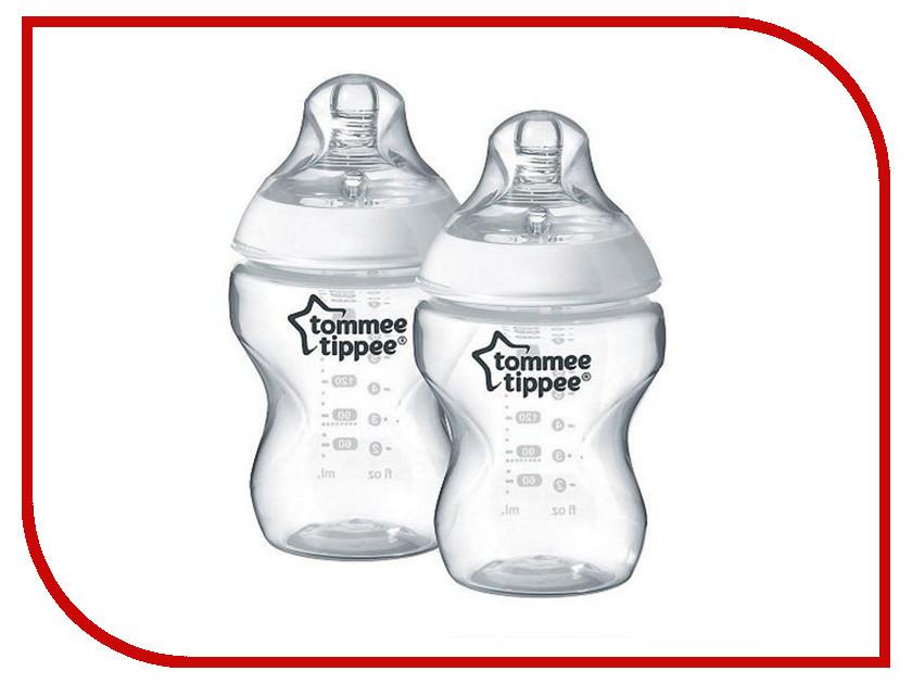 Бутылочка Tommee Tippee 260ml (2шт) с антиколиковым клапаном 42252042