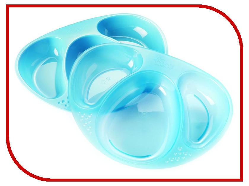 Набор трёхсекционных тарелочек Tommee Tippee (2шт) Blue 44027241-2