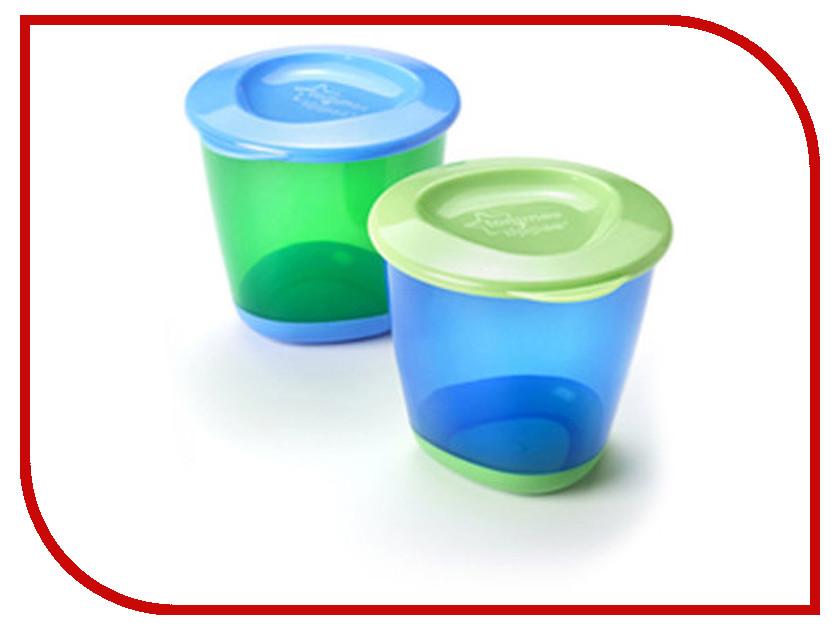Контейнеры Tommee Tippee (2шт) Blue 44650241-2 контейнеры из полимеров tommee tippee контейнер для снеков и печенья