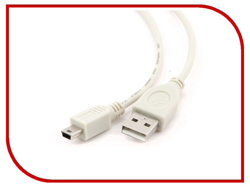 Аксессуар Gembird USB - miniUSB 1.8m CC-USB2-AM5P-6 аксессуар чехол xiaomi redmi note 5a 16gb zibelino classico purple zcl xia not5a16 pur