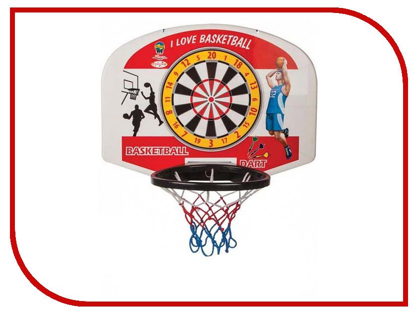Игрушка Pilsan Баскетбольное кольцо с мячом + дартс 3400plsn баскетбольное кольцо pilsan с мишенью для игры в дартс