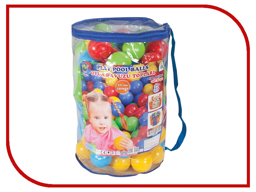шары для сухого бассейна pilsan в пакете сумке Игровой центр Pilsan Шарики для бассейна 100шт 6410plsn