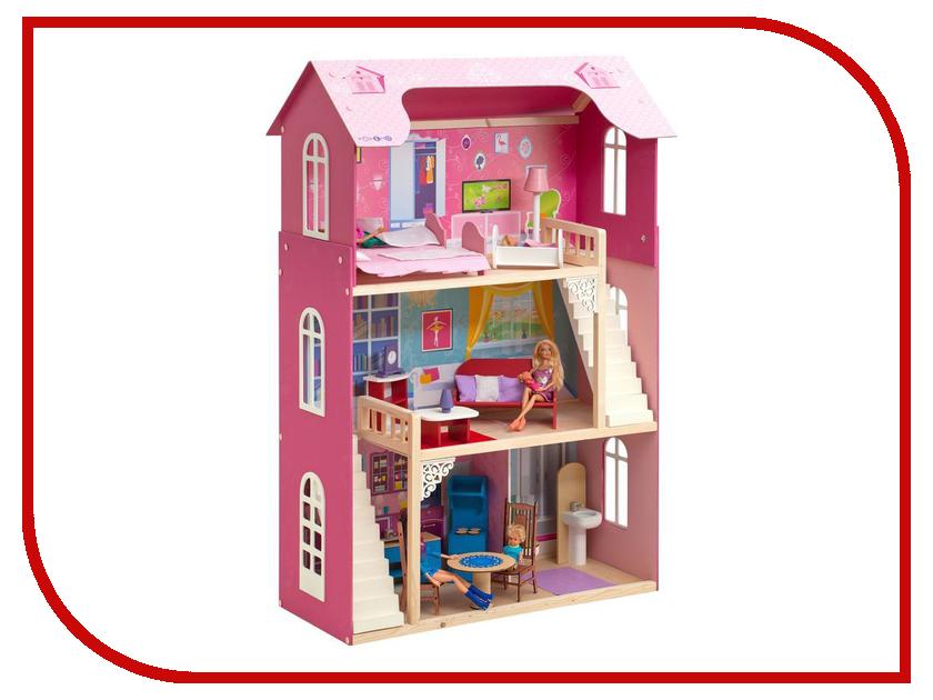 Игра Paremo Кукольный домик для Барби Вдохновение PD315 кукольный домик из картона четыре комнаты картонный папа