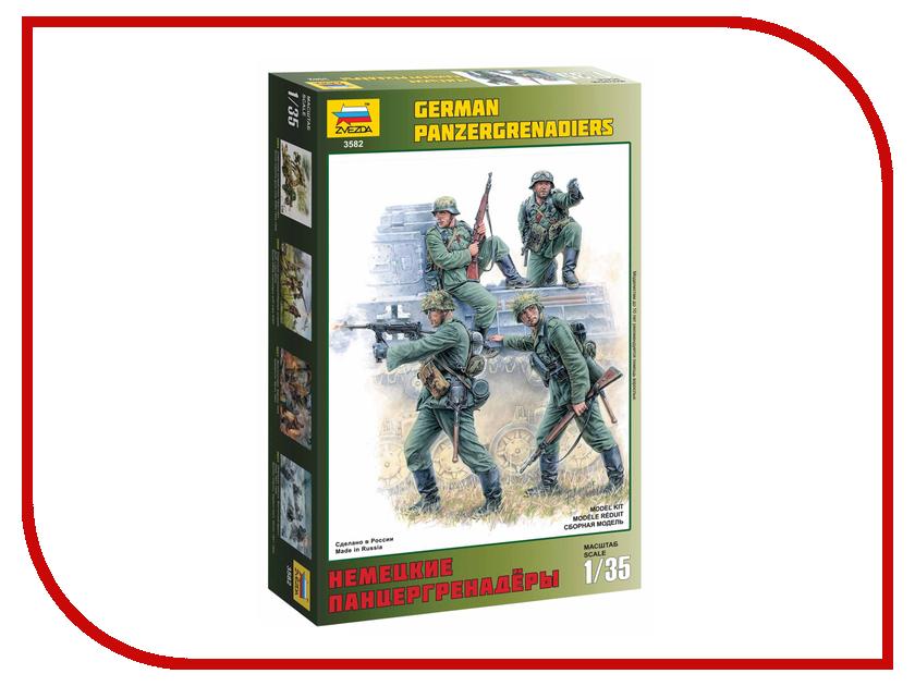 Сборная модель Zvezda Немецкие панцергренадеры 3582 сборная модель zvezda немецкие танкисты 3614
