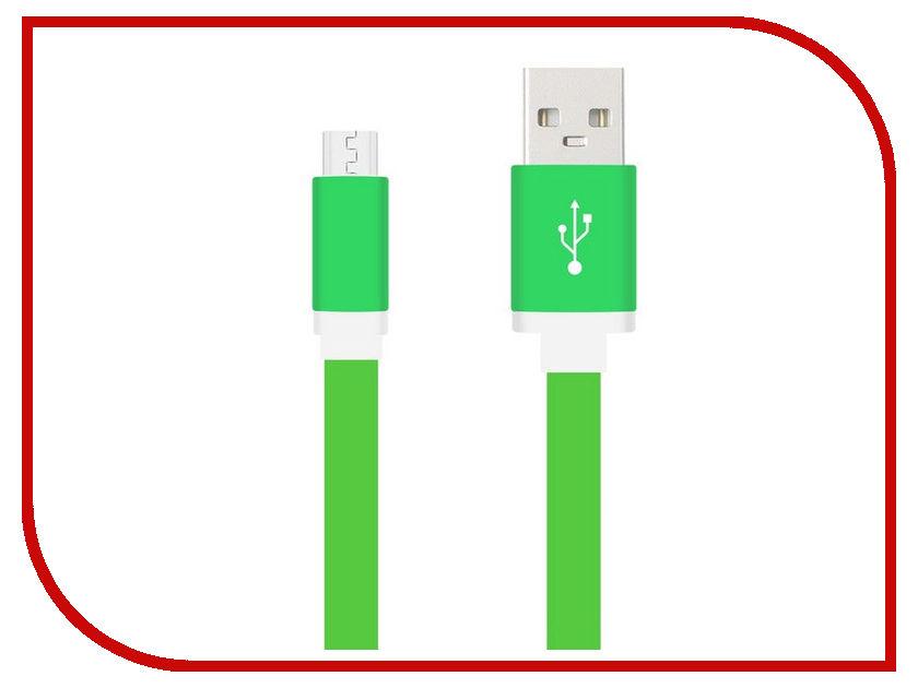 Аксессуар Krutoff USB - MicroUSB 1m Green 14260