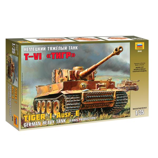 Сборная модель Zvezda Немецкий тяжелый танк T-VI Тигр 3646