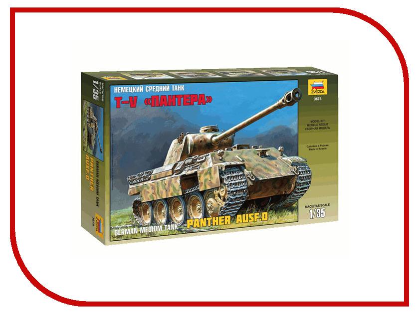 Сборная модель Zvezda Немецкий средний танк Пантера 3678 танк звезда матильда ii британский средний 1 100 6171