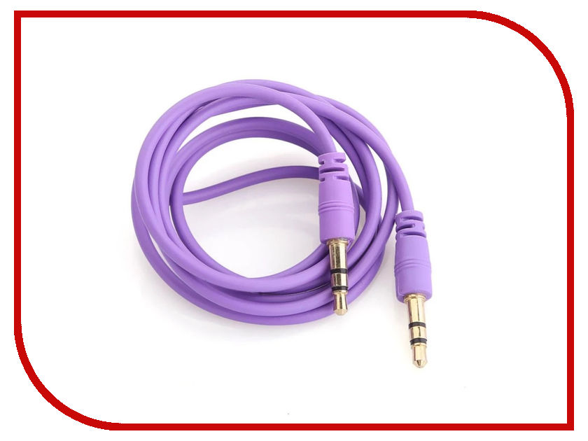 Аксессуар Krutoff AUX Jack 3.5mm 1m Purple 14512 аксессуар krutoff lightning u2 120i strong 1 2m red 14730
