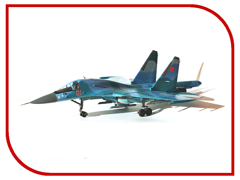 Сборная модель Zvezda Самолет Су-32ФН 7250 сборная модель zvezda самолет мессершмитт bf 109 f2 4802