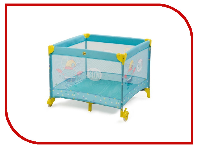 Манеж-кровать Happy Baby Alex Light Blue 4650069782377