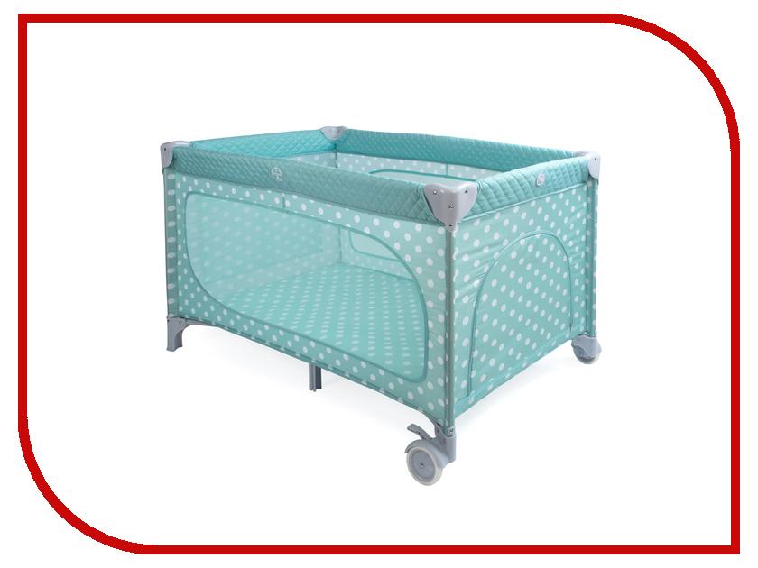 Манеж-кровать Happy Baby Martin Light Blue 4690624016790