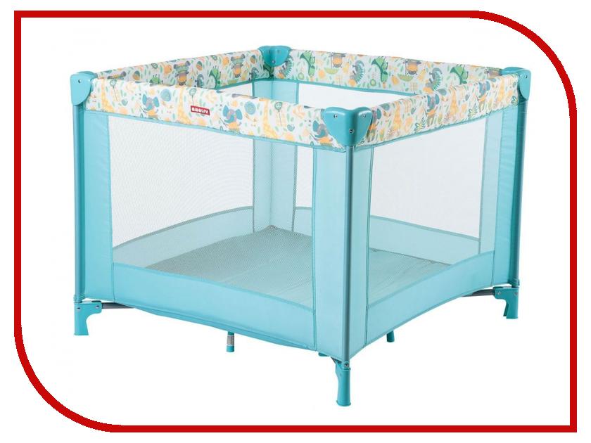 Манеж-кровать Happy Baby Amalfy HB-8090 Aqua 4650069783596