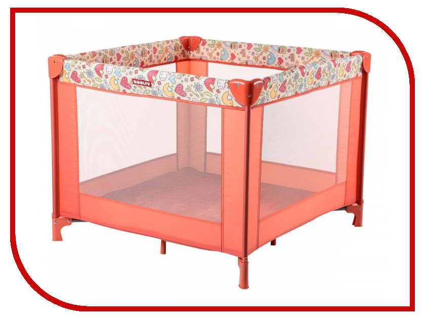 Манеж-кровать Happy Baby Amalfy HB-8090 Coral 4650069783602