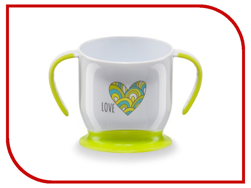 Кружка на присоске Happy Baby Baby Cup With Suction Base Lime 15022 4650069782049