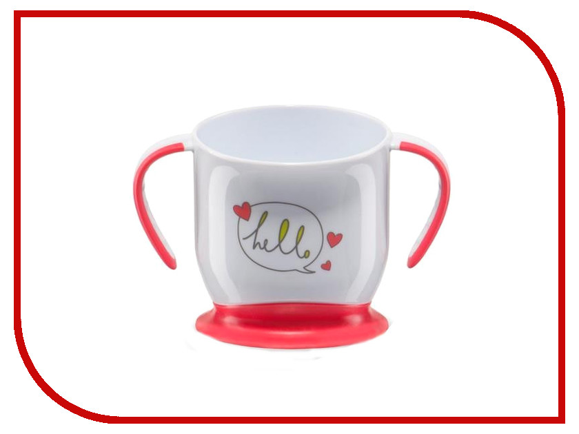 Кружка на присоске Happy Baby Baby Cup With Suction Base Red 15022 4650069782056