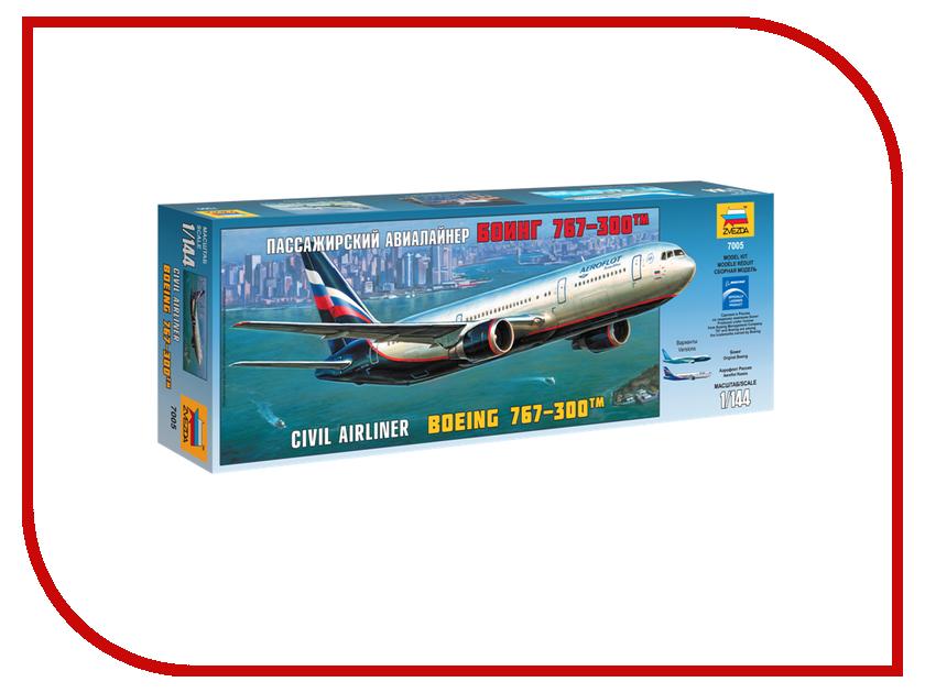 Сборная модель Zvezda Пассажирский авиалайнер Боинг 767-300 7005 звезда сборная модель пассажирский авиалайнер ил 62м