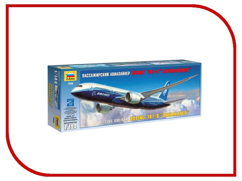 Сборная модель Zvezda Пассажирский авиалайнер Боинг 787-8 Дримлайнер 7008 звезда сборная модель пассажирский авиалайнер ил 62м