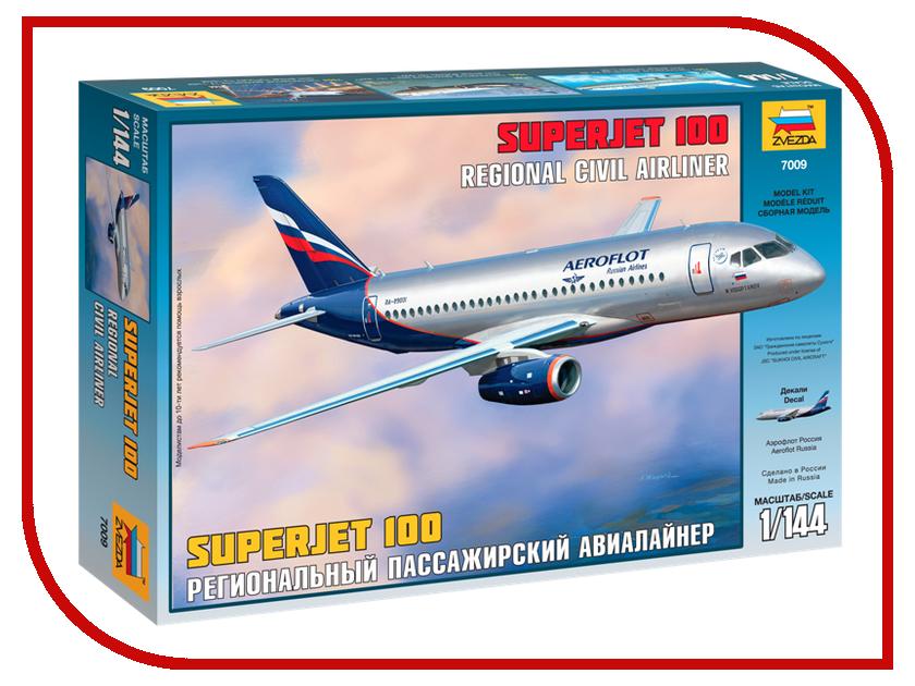 Сборная модель Zvezda Пассажирский авиалайнер Суперджет 100 7009 звезда сборная модель пассажирский авиалайнер ил 62м