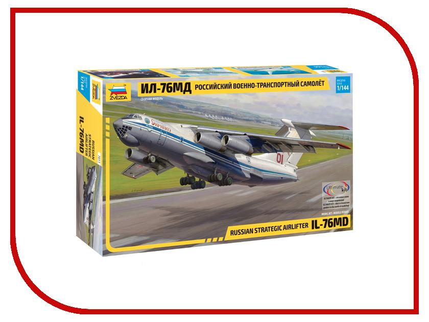 Сборная модель Zvezda Самолёт ИЛ-76 7011 купить готовую модель ил 86