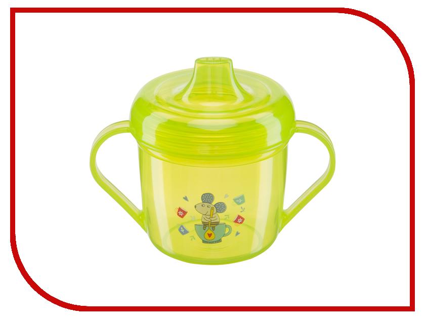 Тренировочная кружка с крышкой Happy Baby Training Cup Lime 14001