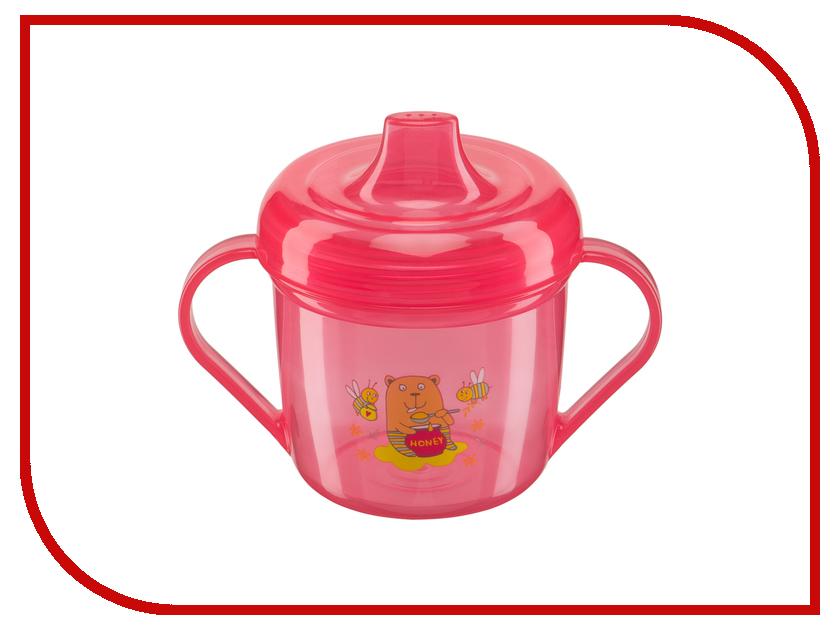 Тренировочная кружка с крышкой Happy Baby Training Cup Red 14001