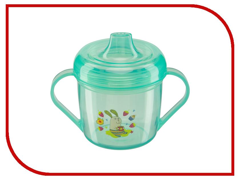 Тренировочная кружка с крышкой Happy Baby 14001 Training Cup Mint 4650069780601 happy baby игровой надувной цилиндр gymex happy baby
