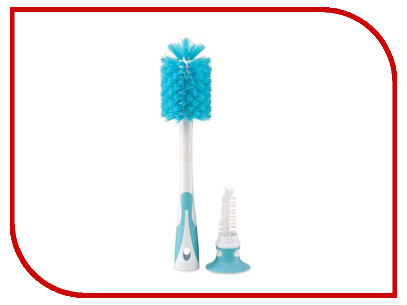 Ёршик для бутылочек Happy Baby Bottle And Pacifier Brush 2 in 1 Blue 11009 4650069781769