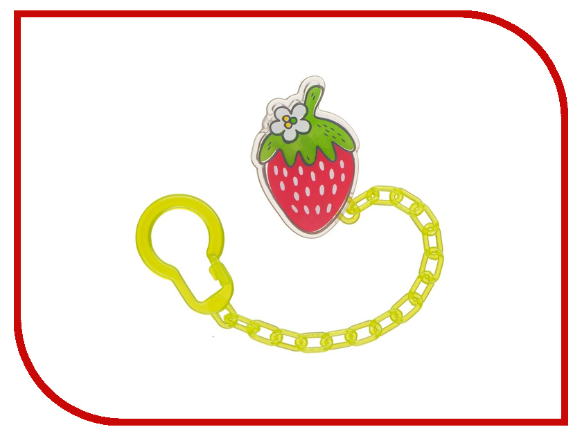 Холдер для пустышек Happy Baby Soother Holder With Chain Lime 11008 4650069781240