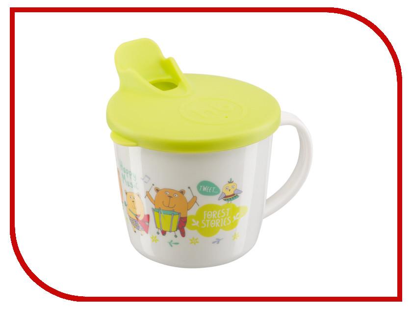 Тренировочная кружка с крышкой Happy Baby Training Cup Lime 15010