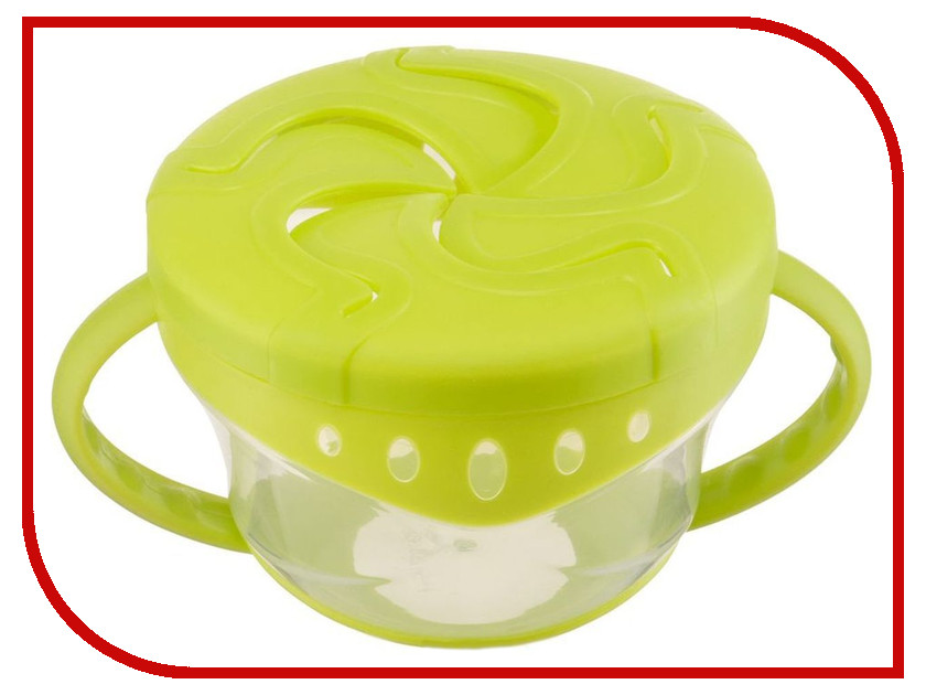 Тарелка с двумя крышками Happy Baby Comfy Plate Lime 15021