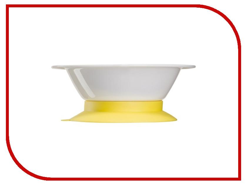 Тарелка глубокая на присоске Happy Baby 15029 Yellow