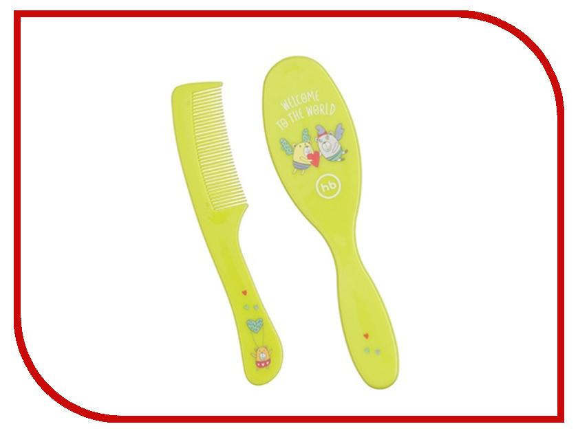 Расческа Happy Baby Hairbrush Comb Lime 17000 4650069781134 расческа dessata mini summer lime fuchsia расческа с ароматом кокоса лайм фуксия dessata