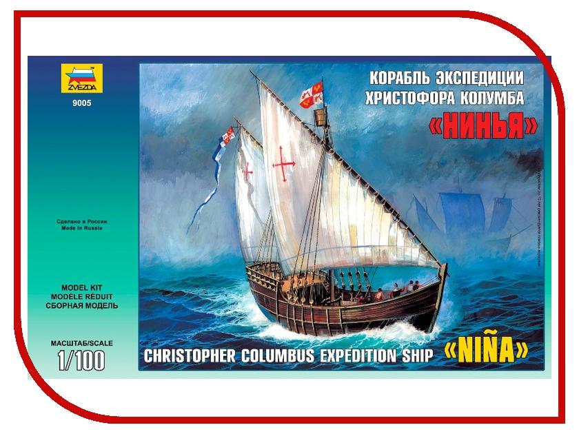 Сборная модель Zvezda Корабль Христофора Колумба Нинья 9005 сборная модель zvezda российские танкисты 3615