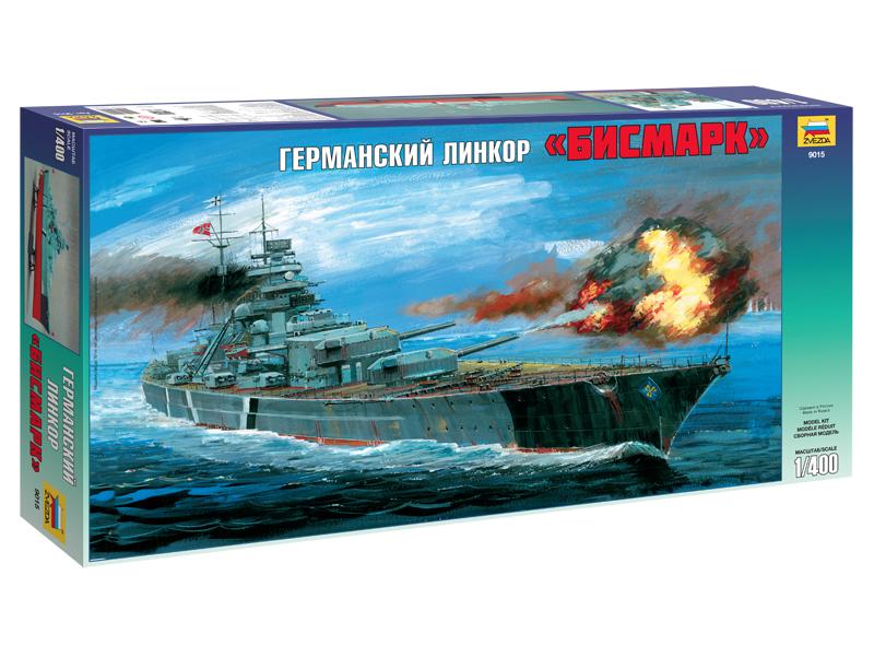 Сборная модель Zvezda Линкор Бисмарк 9015