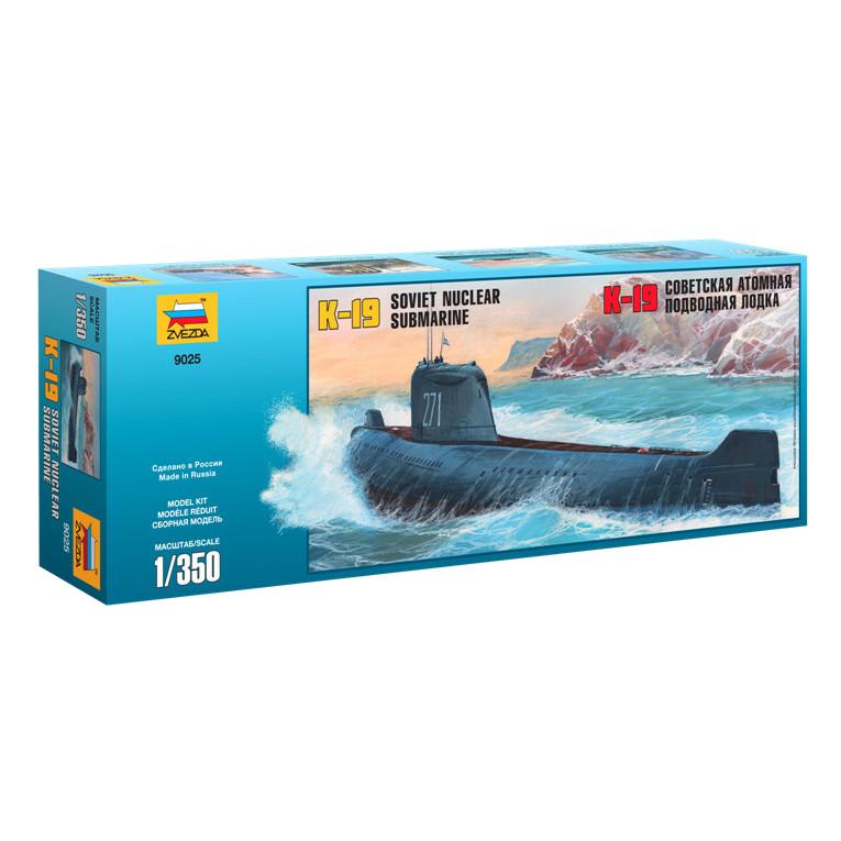 Сборная модель Zvezda Подводная лодка К-19 9025 цена