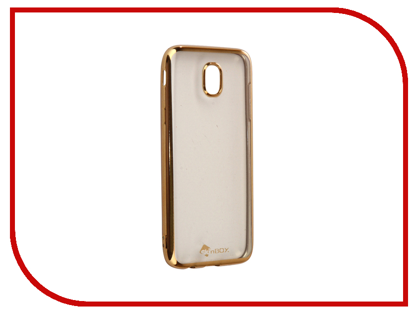 Аксессуар Чехол-накладка Samsung Galaxy J5 2017 SkinBox Silicone Chrome Border 4People Gold T-S-SGJ52017-008 аксессуар чехол накладка samsung galaxy j3 2016 skinbox silicone chrome border 4people dark silver t s sgj32016 008