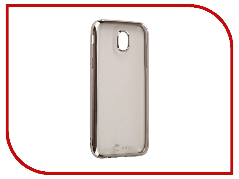 Аксессуар Чехол-накладка Samsung Galaxy J5 2017 SkinBox Silicone Chrome Border 4People Silver T-S-SGJ52017-008 аксессуар чехол накладка samsung galaxy j3 2016 skinbox silicone chrome border 4people dark silver t s sgj32016 008
